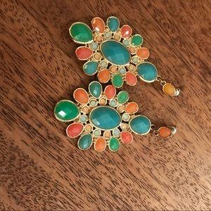 Multi colored dangling earrings